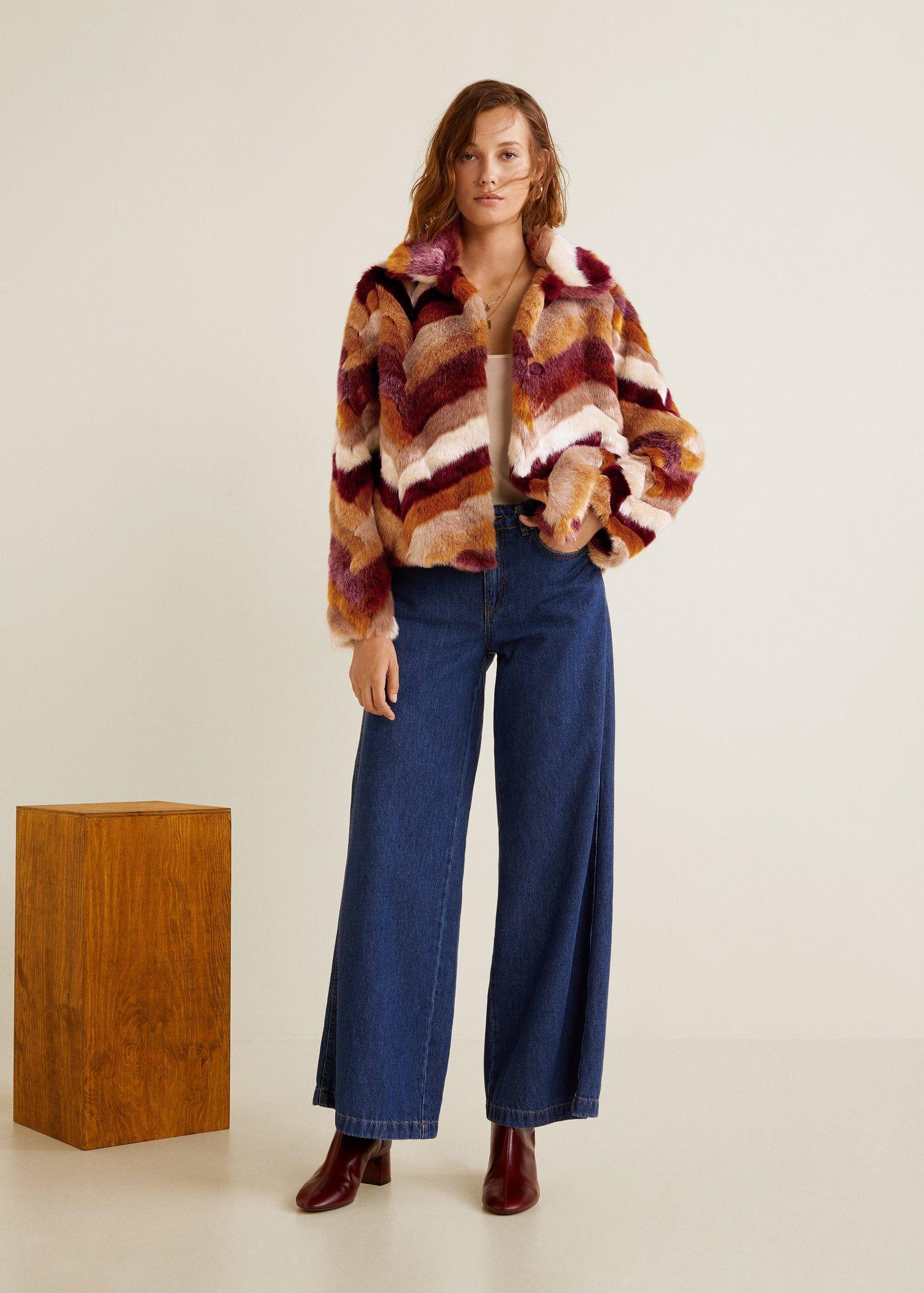 a1f1db438d Multicolor faux fur coat - Women | fall/winter fashion | Coat, Fur ...
