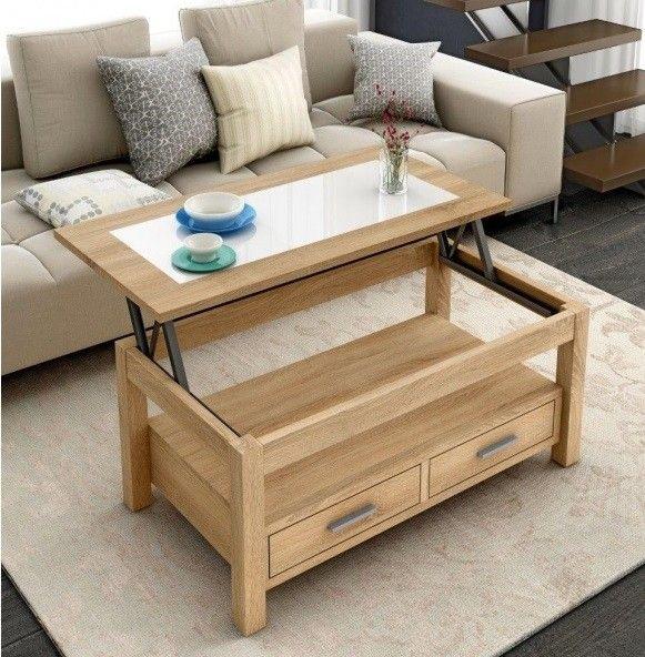 Mesa de centro elevable PUIGMAL – Conforama | mesa elevable ...