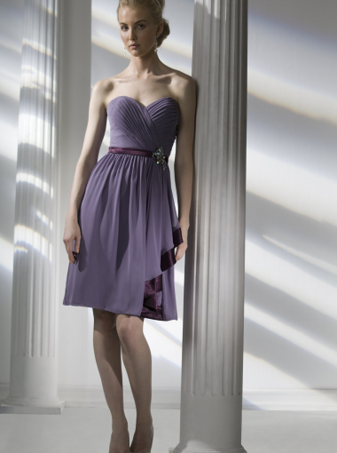 Discount A-line Sweetheart Chiffon Short Prom Dress/ Bridesmaid ...