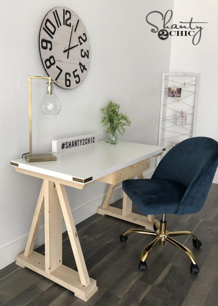 Diy rustic modern writing desk shanty 2 chic