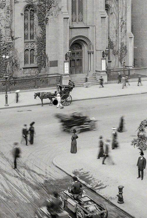 Marble Collegiate Church, Fifth Avenue, NYC. October, 1907.