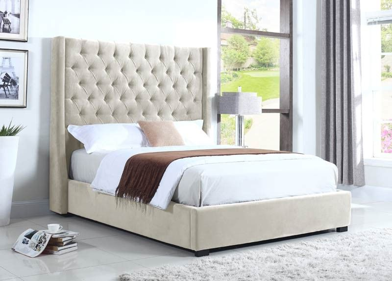 Furniture - High Profile California King Upholstered Platform Bed ...