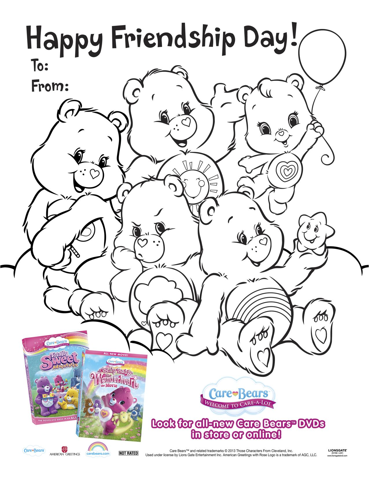 Care Bears Wonderheart Printable