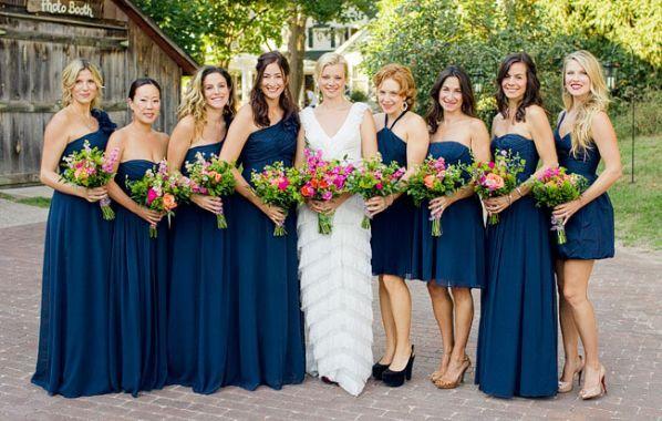 Different color bridesmaid dresses