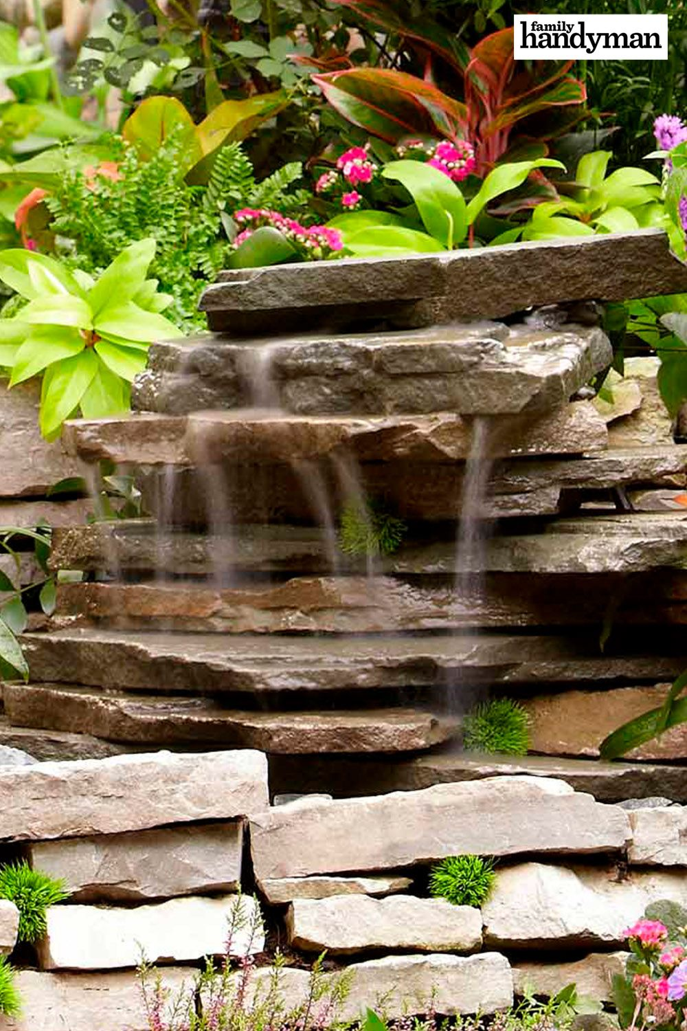 How to Build a Backyard Waterfall | Landscaping tips ...