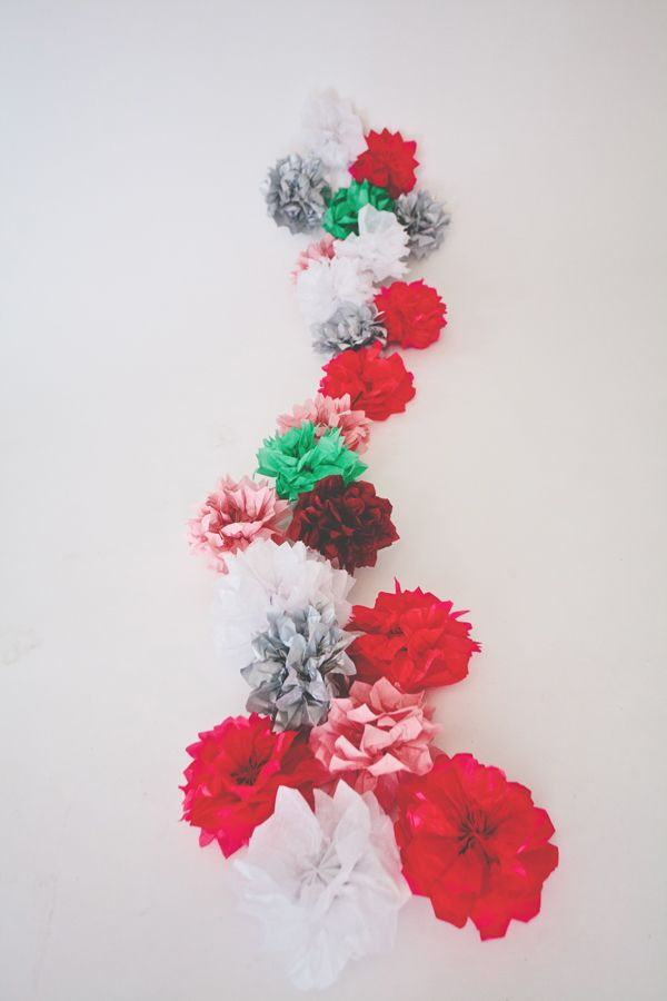 Tissue paper flower garland paper flower garlands flower garlands tissue paper flower garland mightylinksfo Choice Image