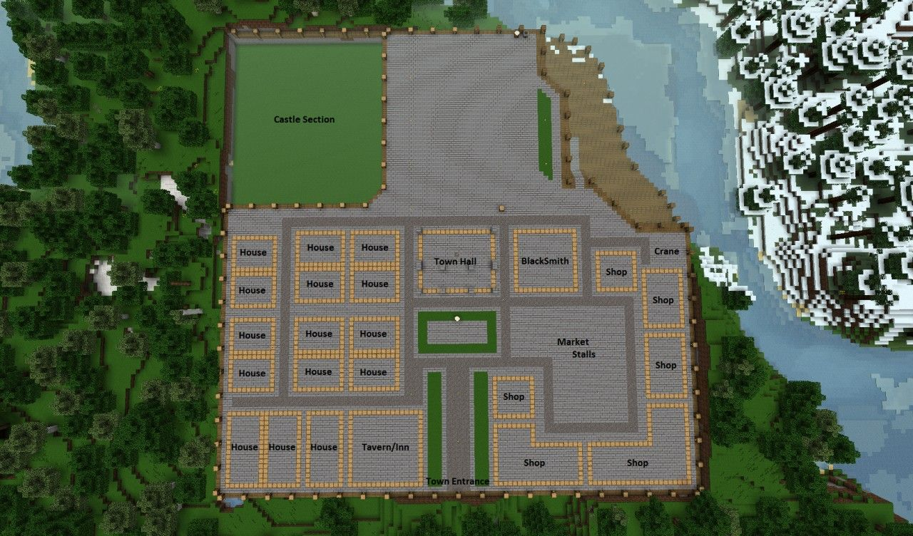 Minecraft Medi Minecraft Medieval Village Layout
