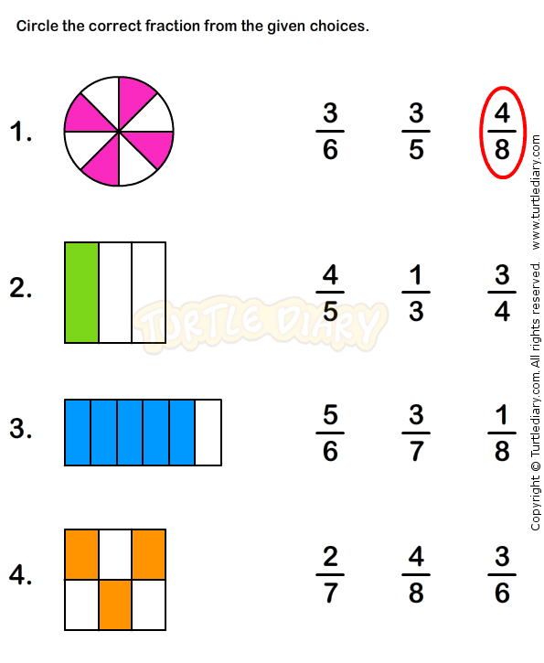 Fractions Worksheet 5 - math Worksheets - grade-1 Worksheets ...