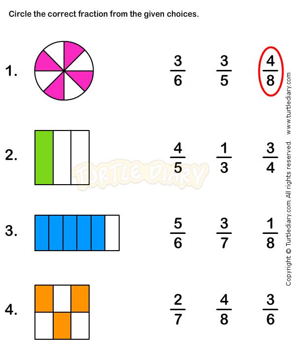 math worksheet : fractions worksheet 5  math worksheets  grade 1 worksheets  : Fraction Worksheet For Grade 1