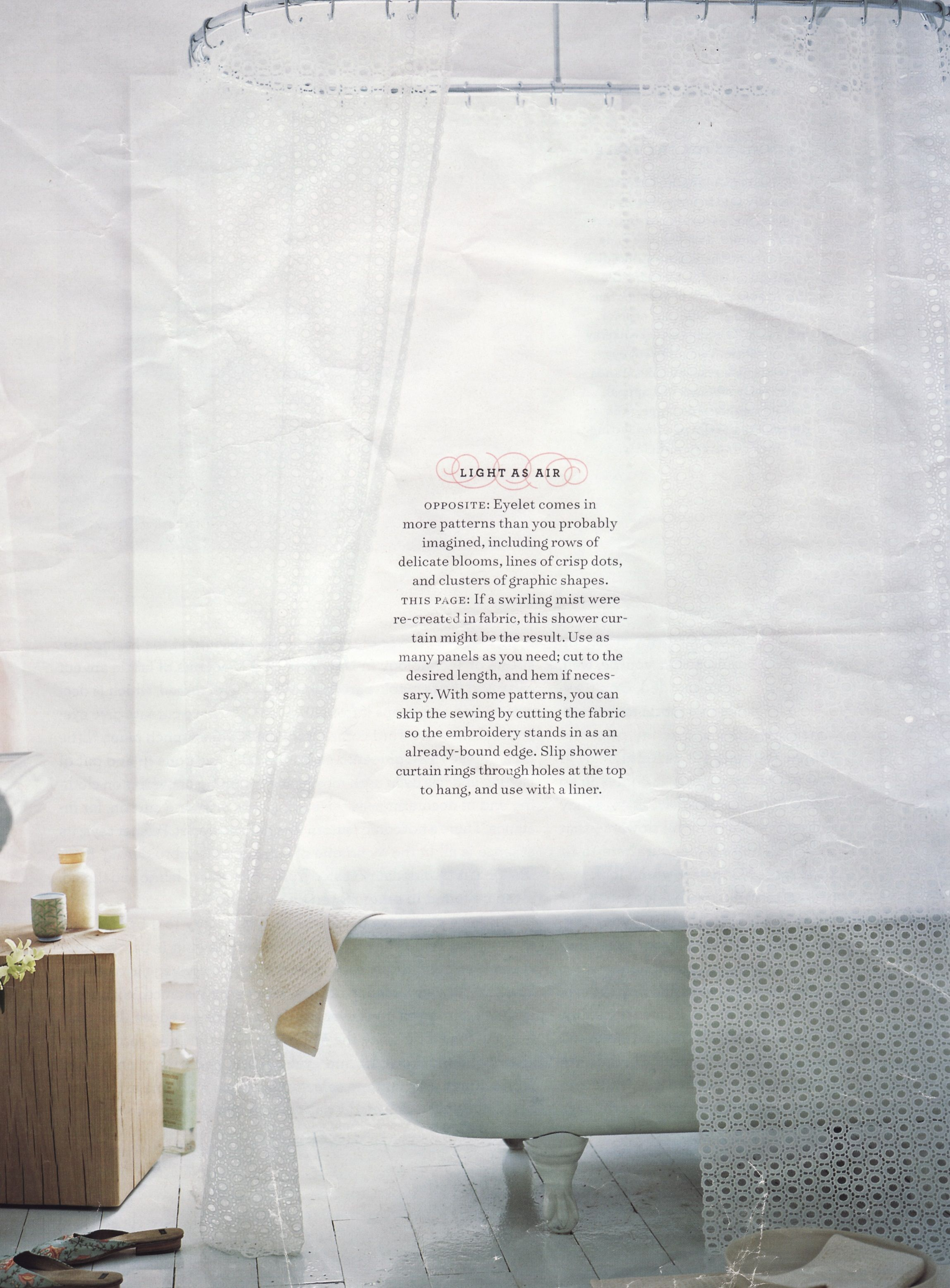 Eyelet Shower Curtain Create Fabrics Shower Decor