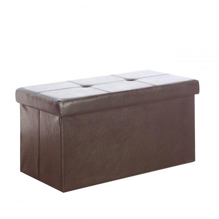 "CorLiving 28"" Folding Leatherette Storage Ottoman- 4 Colour Options!"