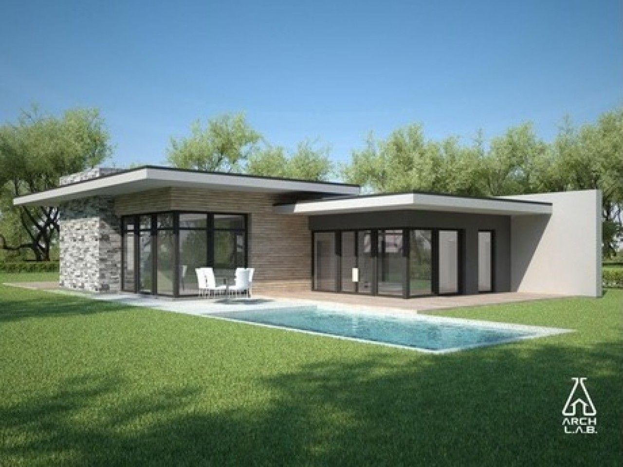 Lovely Modern Flat Roof House Plans Modern Style House Plans