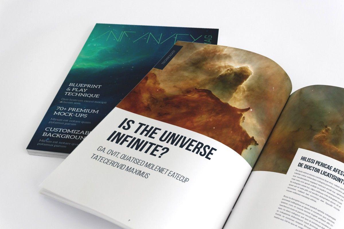 Infinity, Plantilla Gratis de Revista para InDesign | Plantillas ...