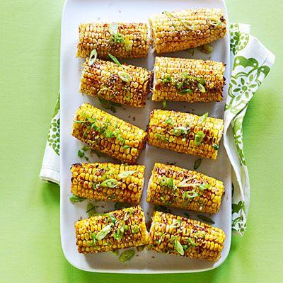 Spicy Hoisin Sesame Glazed Corn