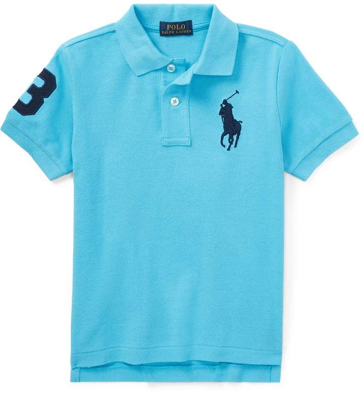 Ralph Lauren Polo RL Baby Boys Cotton Big Pony Splatter Polo Shirt