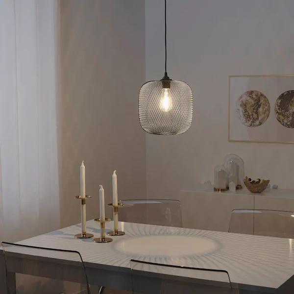 Luftmassa Klosz Czarny Zaokraglony Zaokraglony 26 Cm Zamow Tutaj Ikea In 2020 Lamp Shade Decorative Light Bulbs Ceiling Light Shades