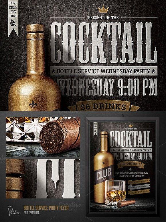 Bottle Service Party Flyer Template Pinterest Flyer Template