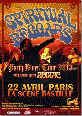 Spiritual Beggars en concert ce lundi 22 avril à la Scène Bastille    https://www.facebook.com/events/390409814389364/