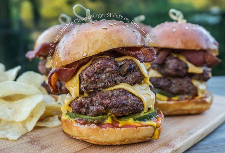 Burger buns brioche