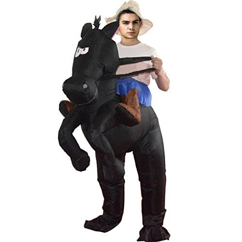Adult Funny Novelty Inflatable Bull Rider Fancy Dress Costume Outfit Halloween