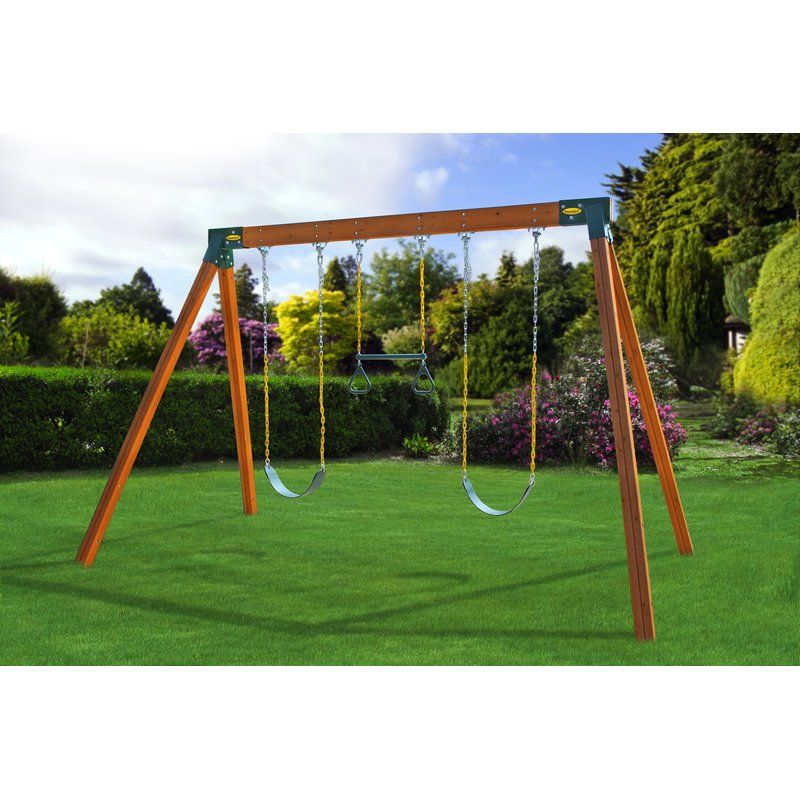 Classic Swing Set Kit (Wood Included) A frame swing set