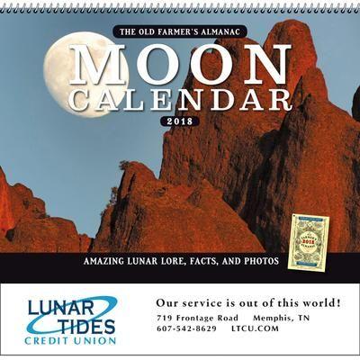 The Old Farmer's Almanac Moon - Spiral Item: OF56MN  #promo #moon