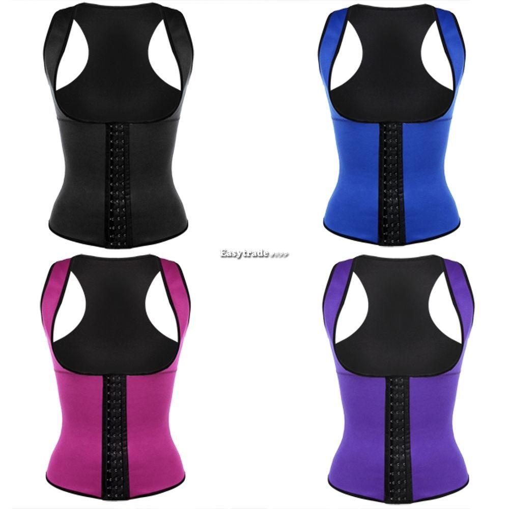 Waist Trainer Training Cincher Slimming Body Shaper Gym Sports Corset Sweat Tops