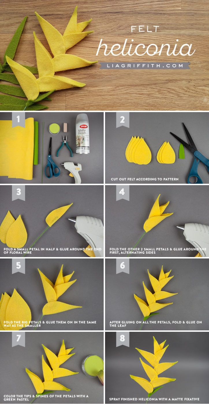 Craft This Outstanding Felt Heliconia Flower for Your Summer Bouquet!