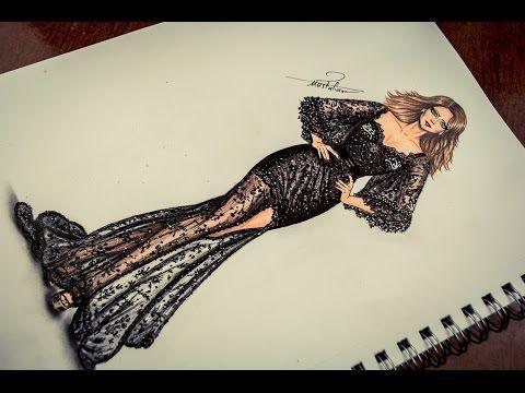 How To Draw Amp Design Fashion تعليم رسم فستان سهرة شفاف مع مسابقة رسم Fashion Illustration Sketches Dresses Fashion Illustration Sketches Fashion Painting