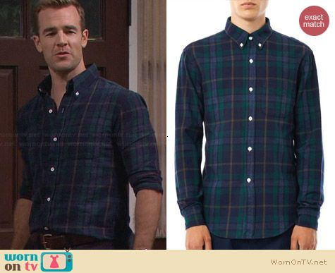 Will's navy and green plaid shirt on Friends With Better Lives. Outfit Details: http://wornontv.net/30697/ #FWBL