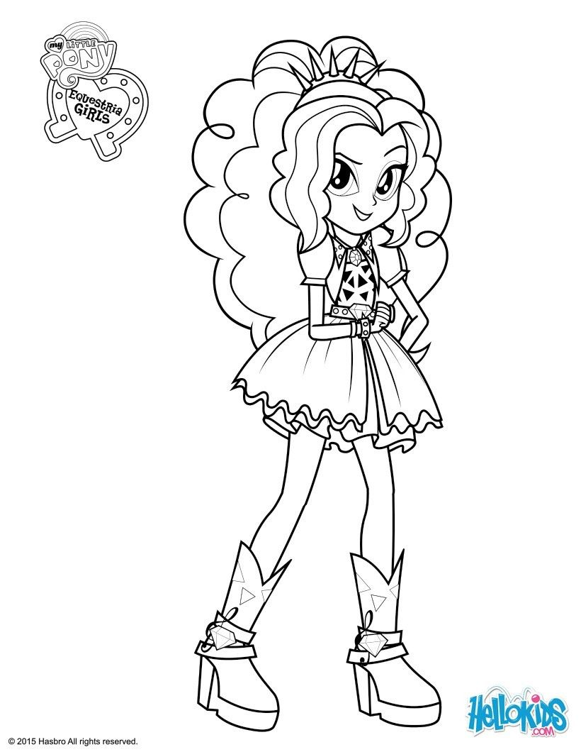 Equestria Girls Coloring Pages Adagio Dazzle Coloring Page  Coloring Pages **t**  Pinterest