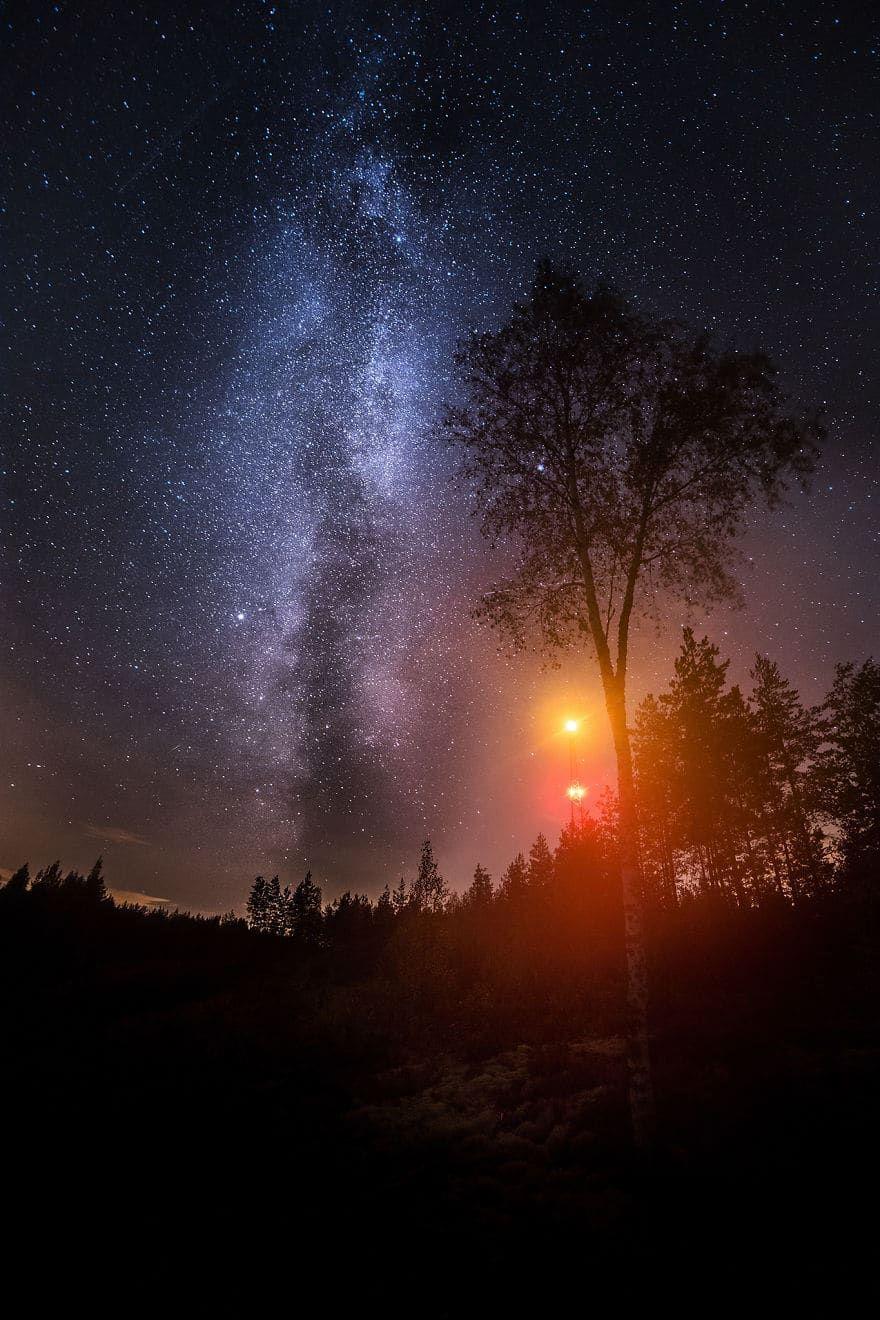 Belles Photos Du Ciel La Nuit Etoiles Astronomie Natuur Melkweg