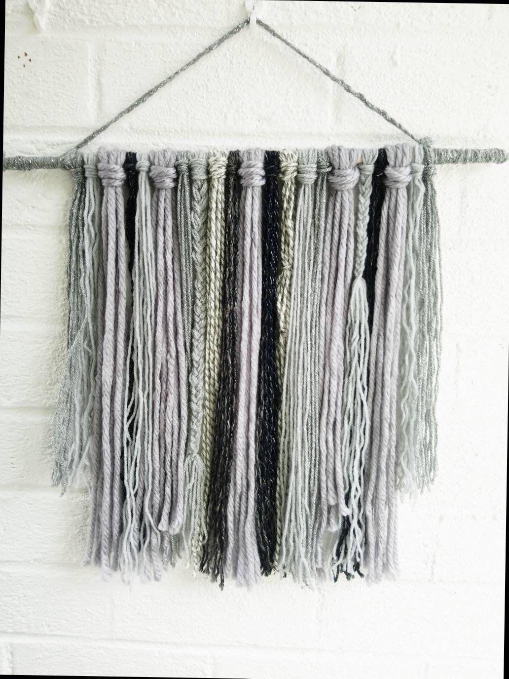 Wool wall hangingmacrameyarn wall decorwall arthome decorrustic