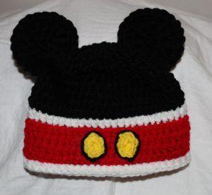 9ab5b3114 5 Mickey Mouse Knit Hat Patterns - The Funky Stitch | Free crochet ...