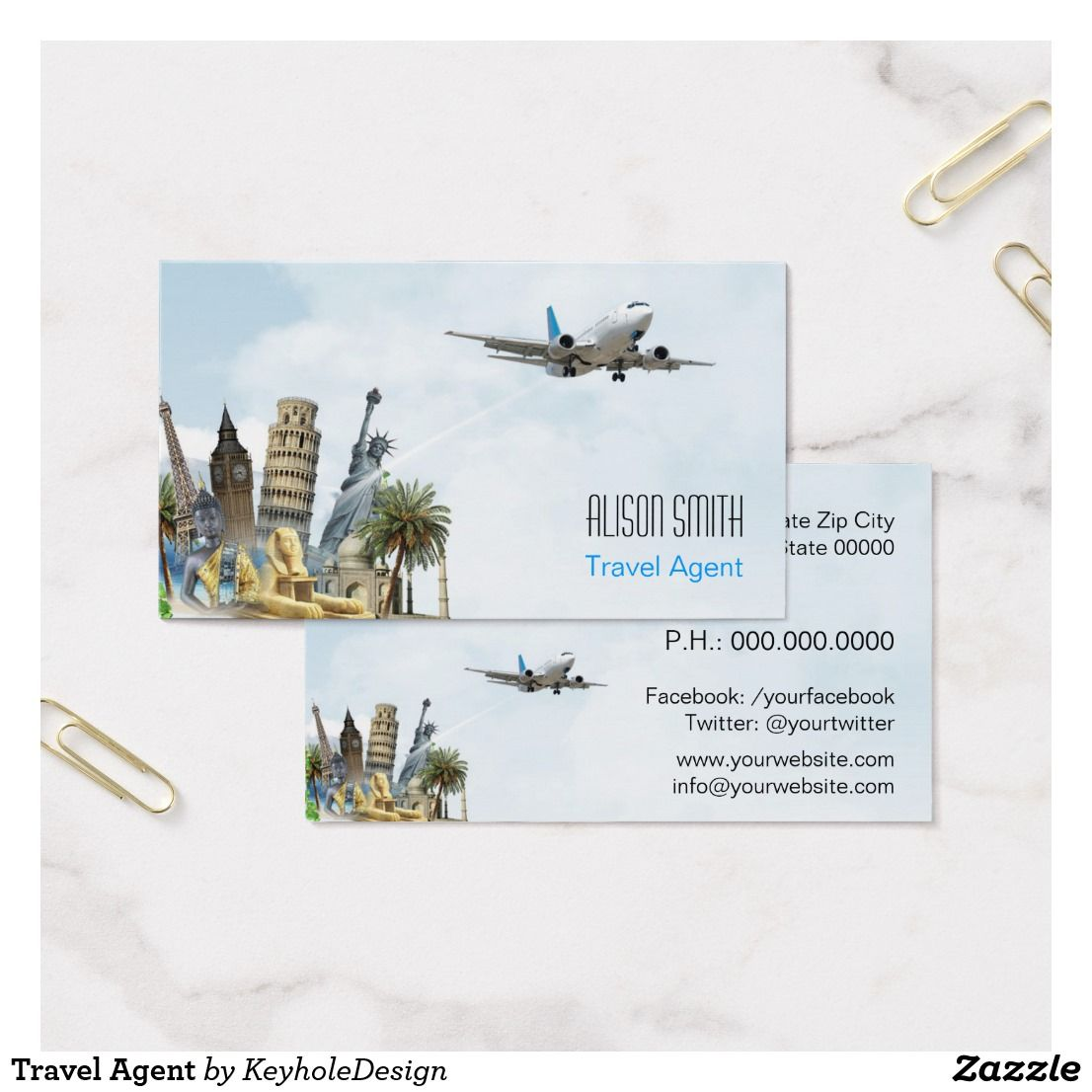 Travel Agent Business Card | Business cards and Business