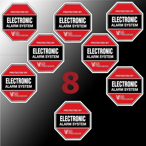 8 Vas 105 Security Burglar Alarm System Home Business Decal Stickers Made In The Usa By Vas Top Home Security Systems Best Home Security System Alarm System