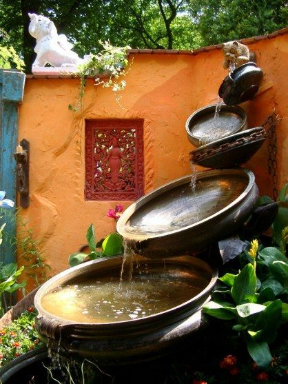 Water Feature With Antique Urlis
