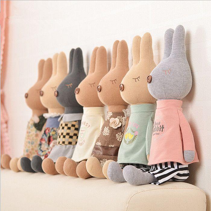 2015 New cute mini soft  plush rabbit  dolls  toys  Girls's best brithday gift  33 cm  Lovely rabbits dolls  Free shipping
