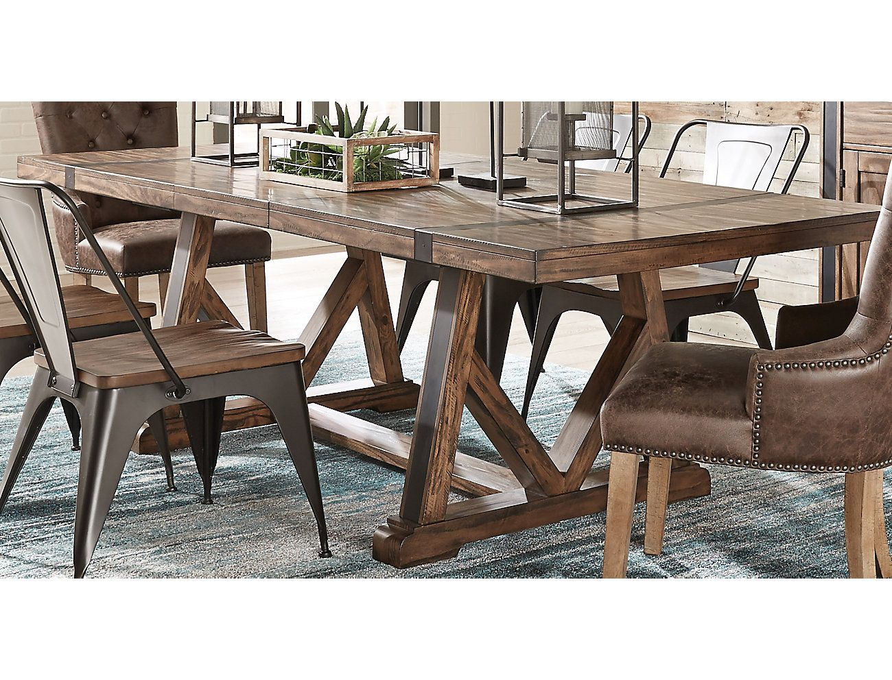 Nelson Trestle Dining Table Large Dining Table Trestle