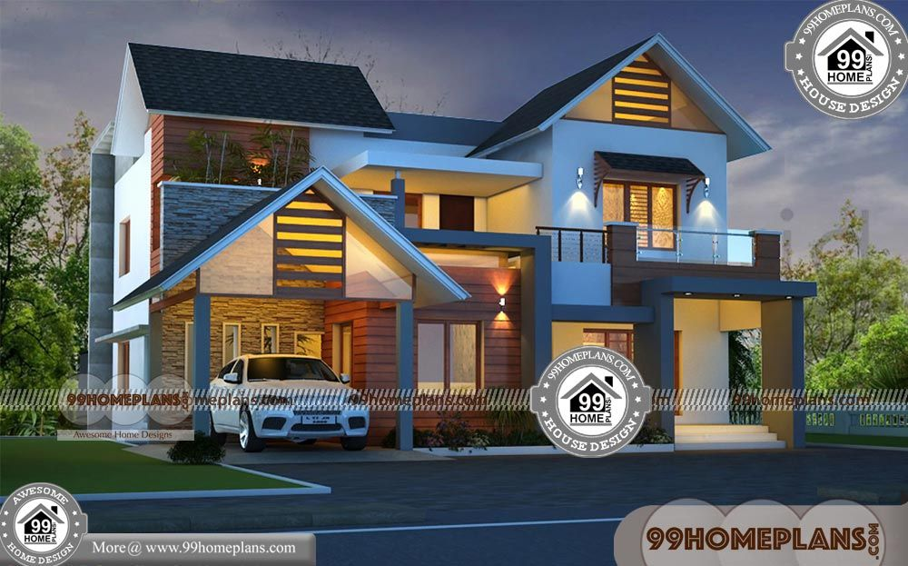 Indian Traditional Style House Arch Design With Double Story Ultra Modern Low Cost Home Floor Plans 4 B House Arch Design House Floor Plans New House Plans