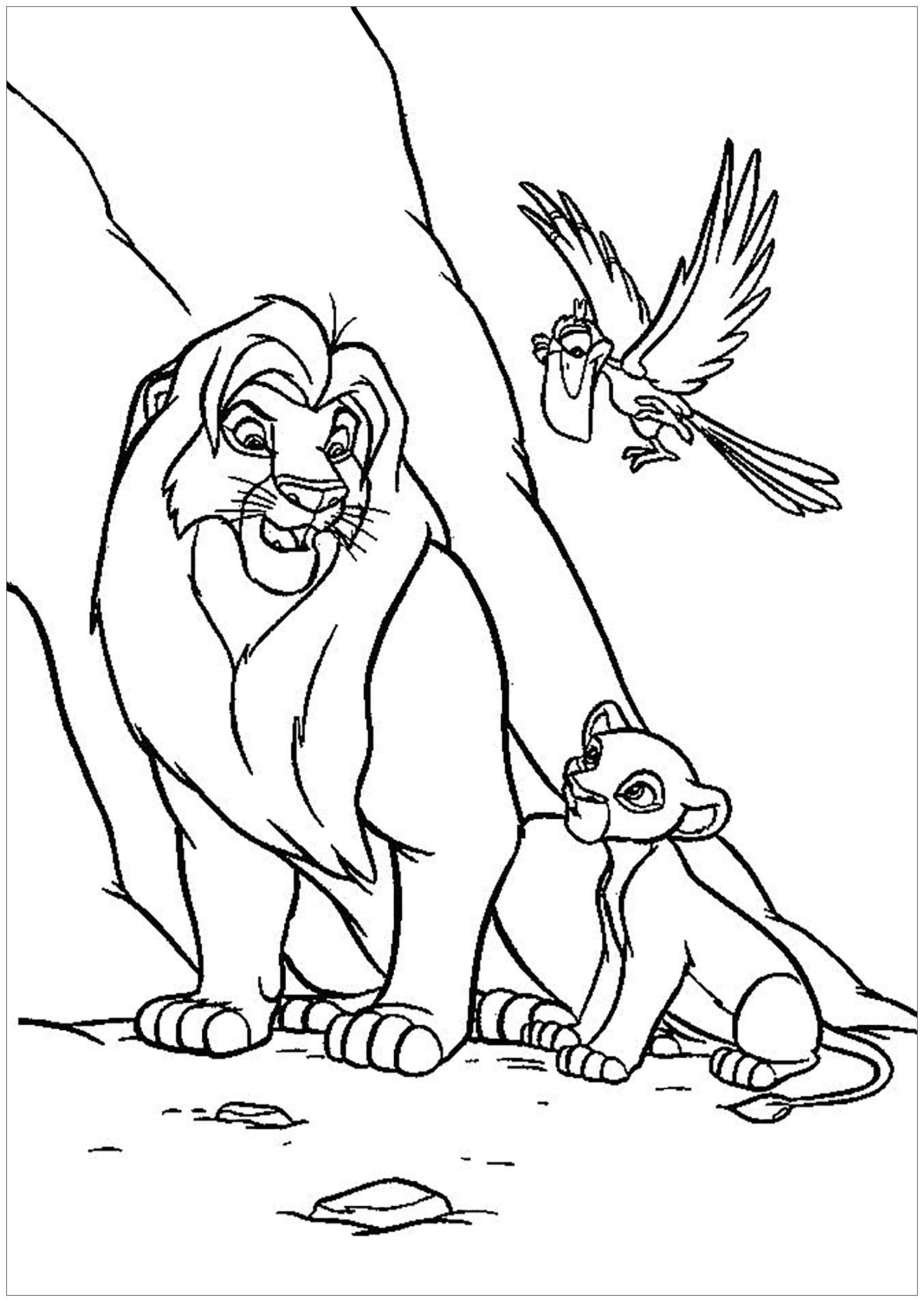 42 Coloring Page Lion King Animal Coloring Pages Disney Coloring Pages King Coloring Book