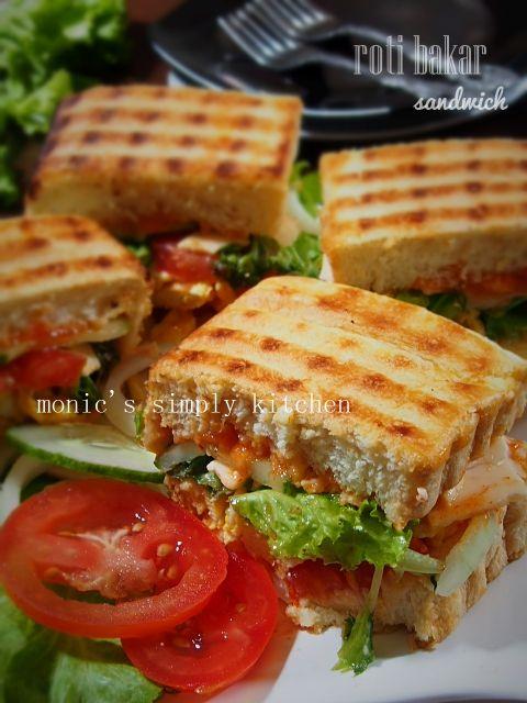 Roti Bakar Abang Abang Versi Sandwich Monic S Simply Kitchen Rotis Roti Lapis Ide Makanan