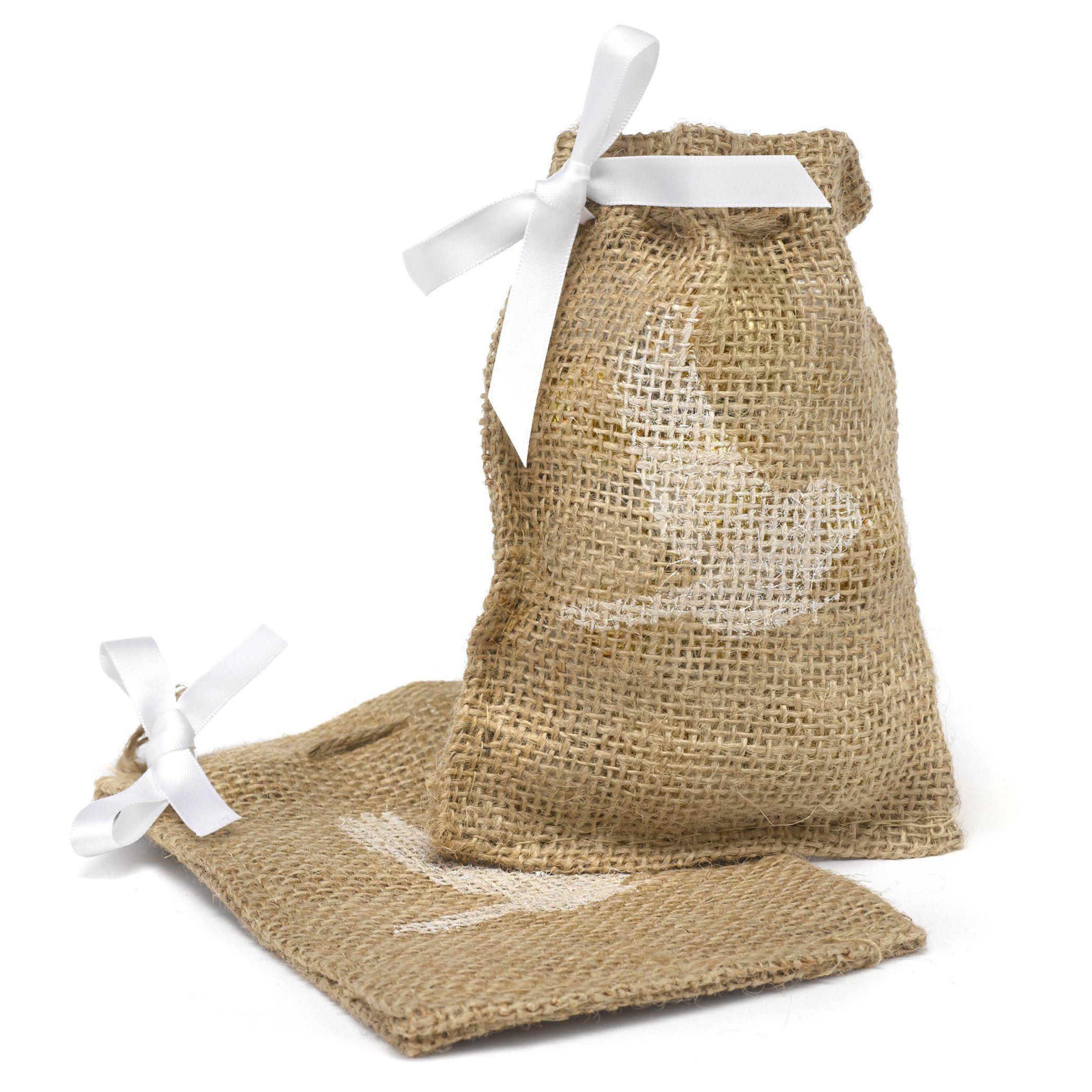 Amazon.com - Hortense B. Hewitt Burlap Favor Bags Wedding ...