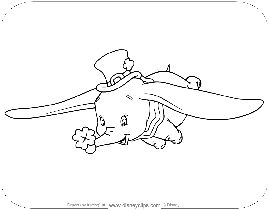 Coloring Page Of Dumbo For Saint Patrick S Day Disney Dumbo Saintpatricksday Coloringpages Coloring Pages Disney Dumbo Color