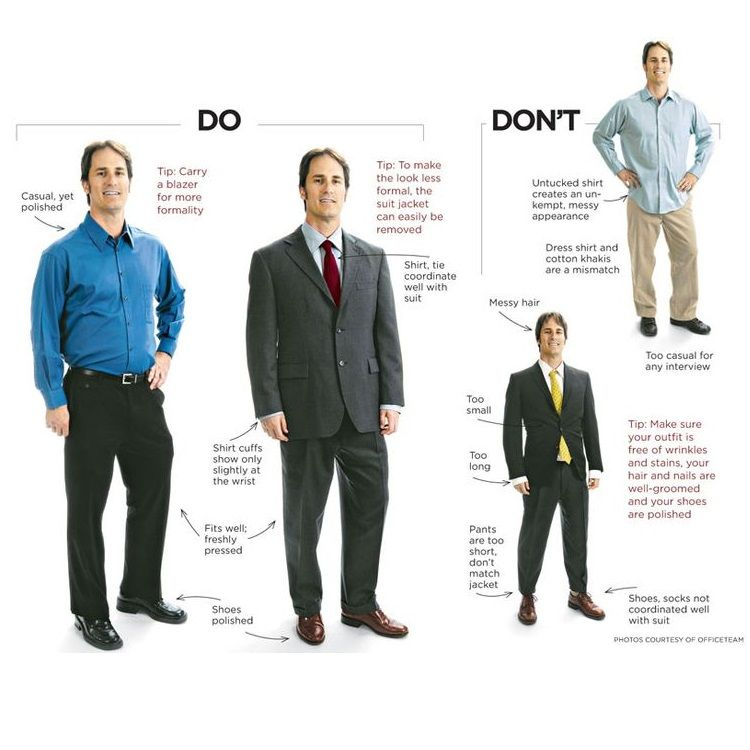 Do 39 s and don 39 t 39 s for business professional attire for Business shirts for men