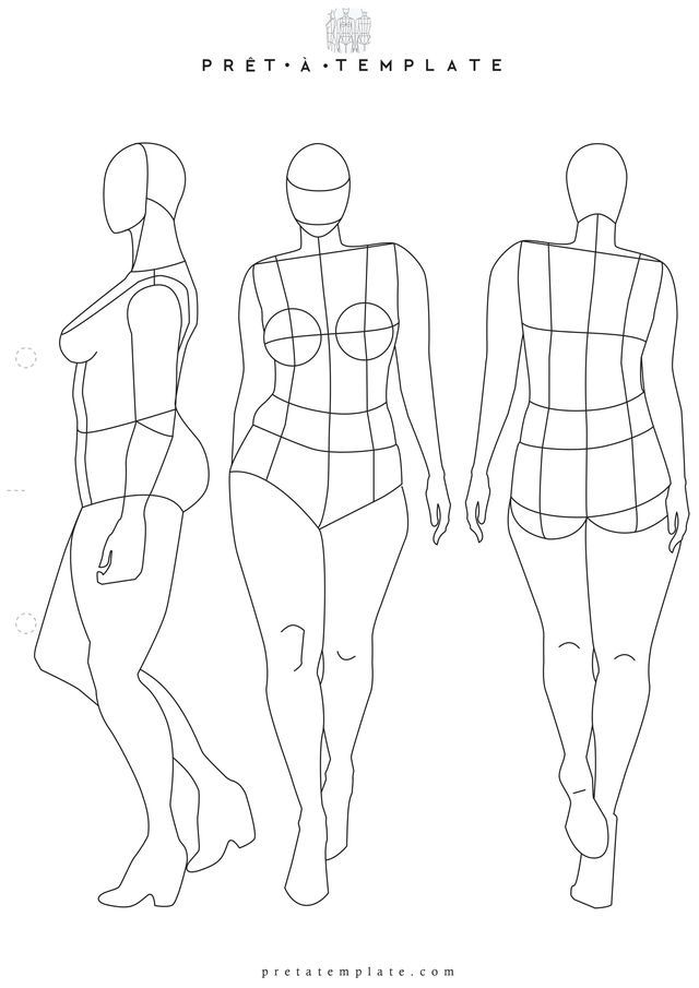 Plus Size Woman Body Figure Fashion Template (D I Y Your Own Fashion  Sketchbook)  Fashion Designer Templates