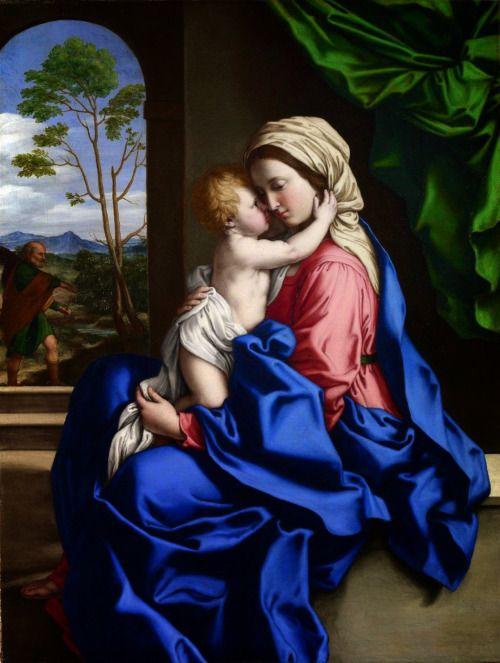 Sassoferrato (1609-1685)- The Virgin and Child Embracing