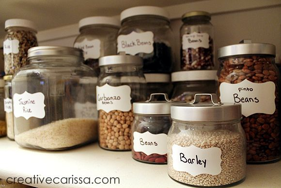 Diy Pantry Labels Contact Paper