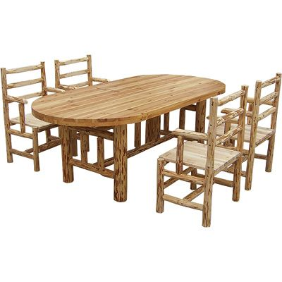 Log Dining Table Paul Bunyan Eat Your Heart Out