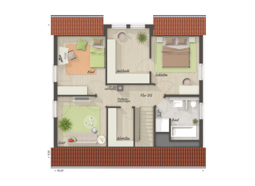 Einfamilienhaus FLAIR 134 mit Klinker Fassade Town
